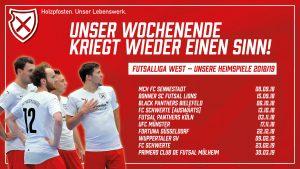 Futsal I Heimspiele und Dauerkarten in der Saison 2018/19