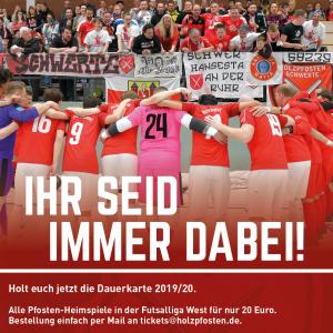 Futsal I Dauerkartenverkauf für 2019/20 startet